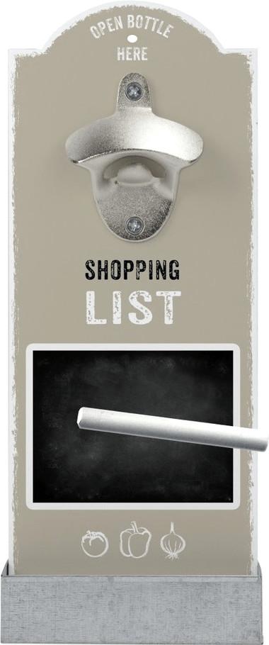 Contento Wandflaschenöffner Shopping List