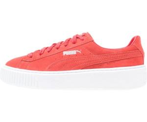 Puma Damen Suede Platform Sneaker, Rot (Barbados Cherry-Barbados Cherry White), 38 EU