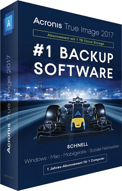 Image of Acronis True Image 2017 - 1TB Cloud (1 Device) (1 Year) (DE)