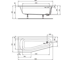 Ideal Standard Hotline Raumspar Badewanne 160 x 70 cm (K276301) ab ...