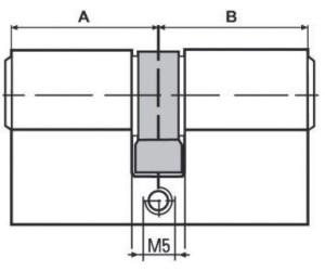 BKS Doppelzylinder PZ 8800 45//50mm NuG nein Schlüssel 3 verschieden schließend