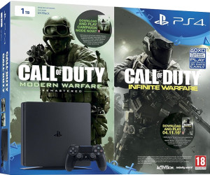 Sony PlayStation 4 (PS4) Slim 1TB + Call of Duty: Modern Warfare - Remastered + Call of Duty: Infinite Warfare