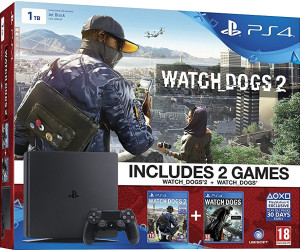 Sony PlayStation 4 (PS4) Slim 1TB + Watch Dogs 2 + Watch Dogs