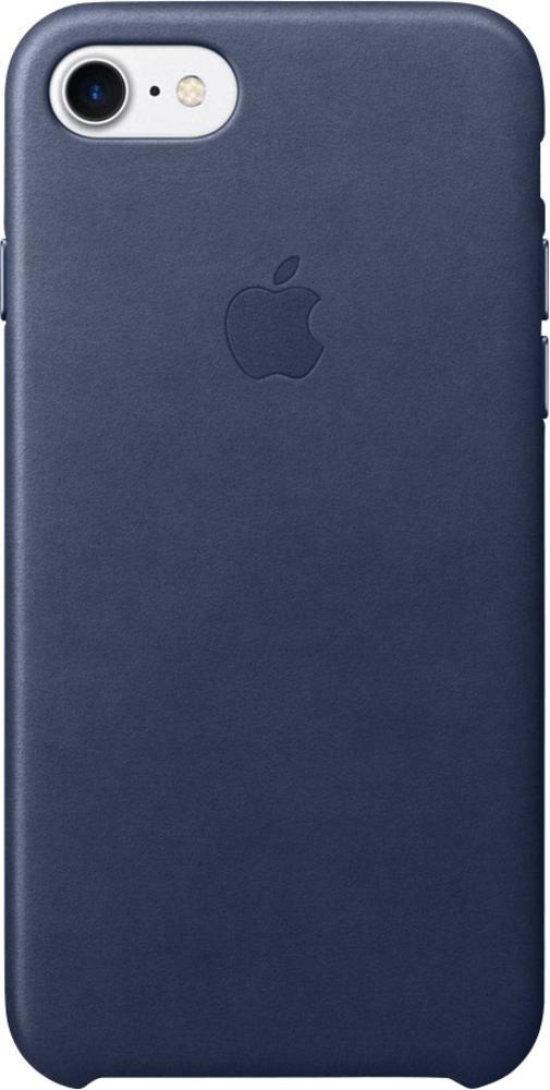 Apple Leather Case (iPhone 7) azul noche