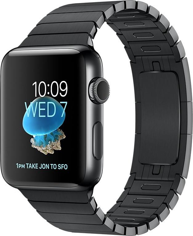 Apple Watch Series 2 42mm cassa in acciaio inossidabile grigio con bracciale a maglie nero