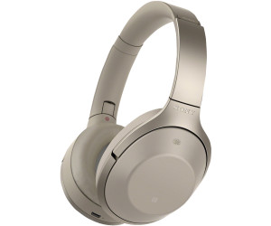 Sony MDR-1000X Bluetooth Headphones (beige)