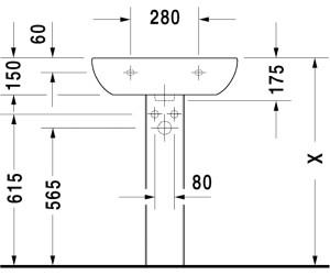 Hervorragend Duravit D-Code Waschtisch 60 x 46 cm ab 34,33 € | Preisvergleich XW32