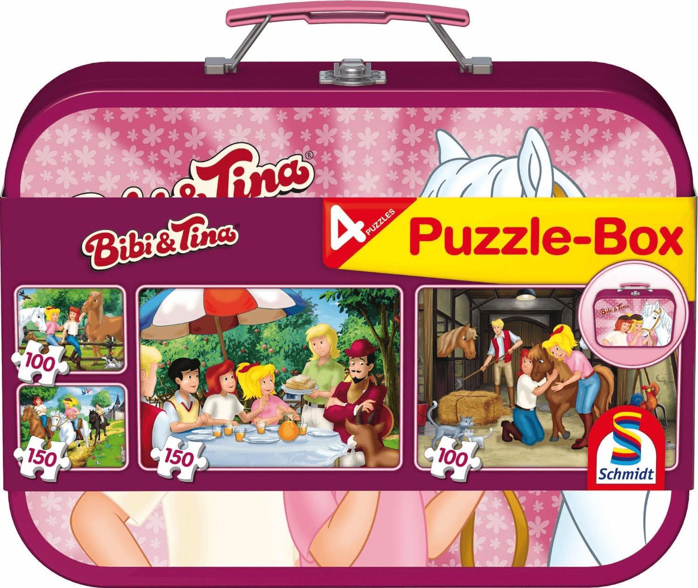 Schmidt-Spiele Bibi & Tina Puzzle-Box im Metallkoffer