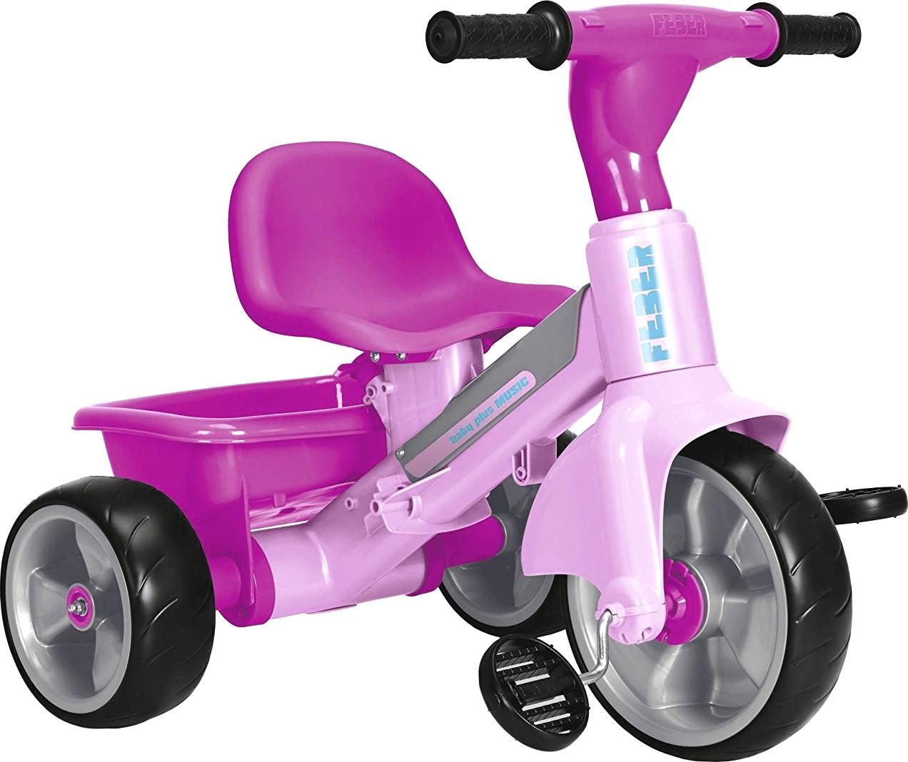 Feber Baby Plus Dreirad mit Musik pink