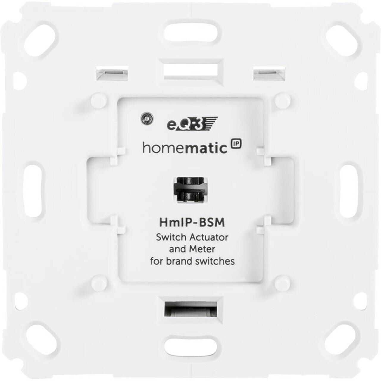 Homematic IP Schalt-Mess-Aktor für Markenschalter (HmIP-BSM)