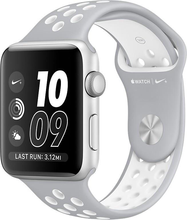 Apple Watch Series 2 Nike+ 38mm argento con cinturino Sport Flat Silver/bianco