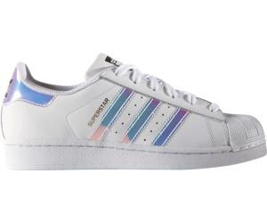 adidas superstar j white white metallic silver 36