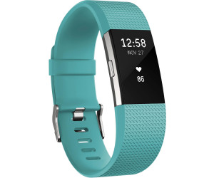 Fitbit Charge 2 Turquoise Silver L