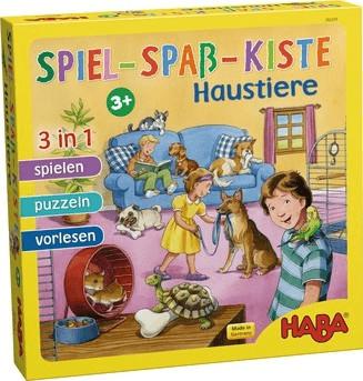 Haba Spiel Spaß Kiste 3 in 1 Haustiere