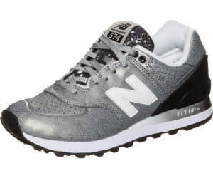 new balance damen sneaker wl574rac silver/black