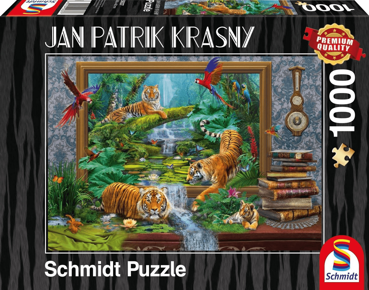Schmidt-Spiele Jan Patrik Krasny: Tiger im Dschungel - Zum Leben erwacht (1000 Teile)