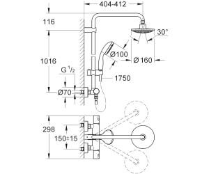 grohe vitalio start duschsystem 27960000 ab 229 00 preisvergleich bei. Black Bedroom Furniture Sets. Home Design Ideas