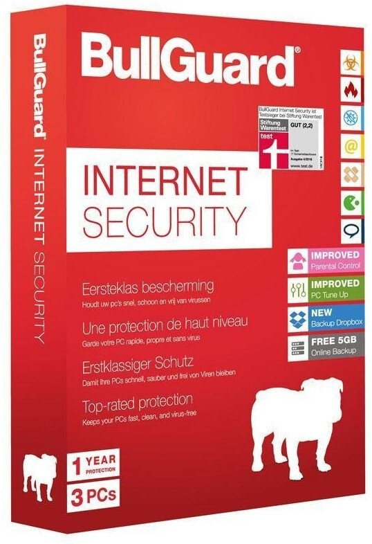 Image of BullGuard Internet Security (3 Devices) (1 Year) (Multi) (Box) (5GB Backup)