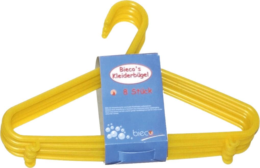 Bieco Kleiderbügel Kunststoff 8-Stk. gelb