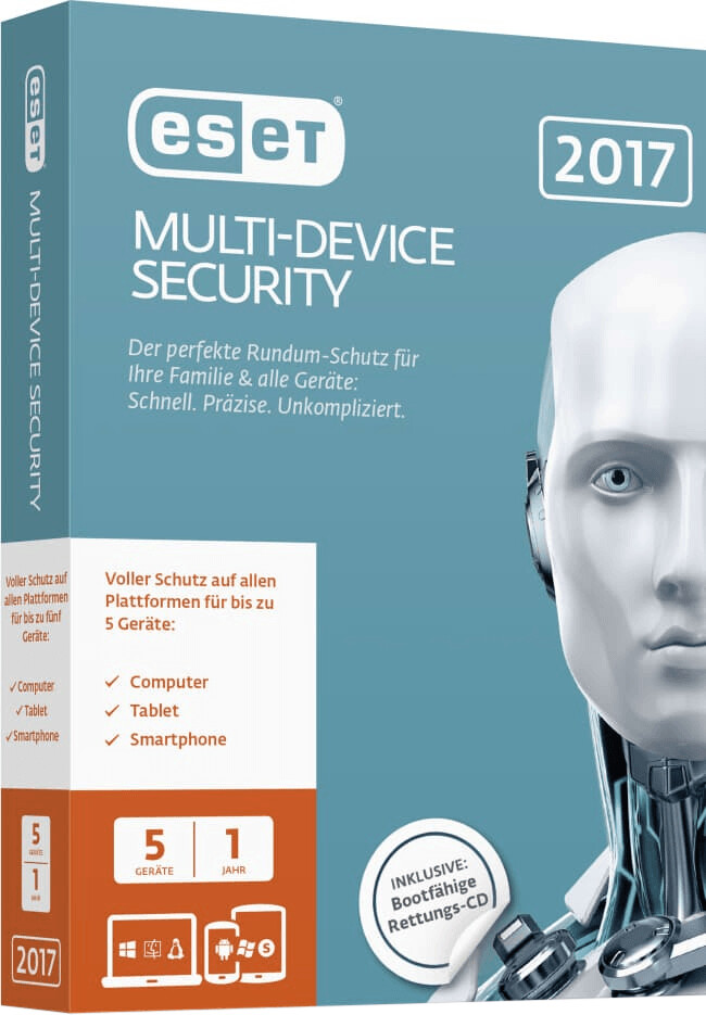 ESET Multi Device Security 2017 (DE) (5 Geräte)...