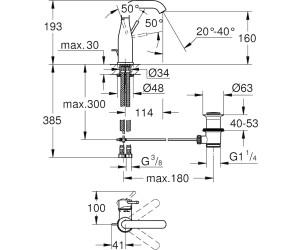 Grohe Essence Einhand-Waschtischbatterie M-Size (23462DC1) ab ...
