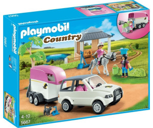 playmobil curie avec transport de chevaux 5667 au meilleur prix sur. Black Bedroom Furniture Sets. Home Design Ideas
