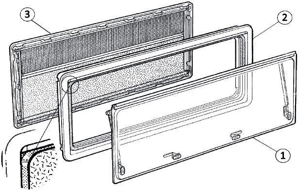 Dometic Ersatzscheibe für SEITZ S4 (550 x 580mm)
