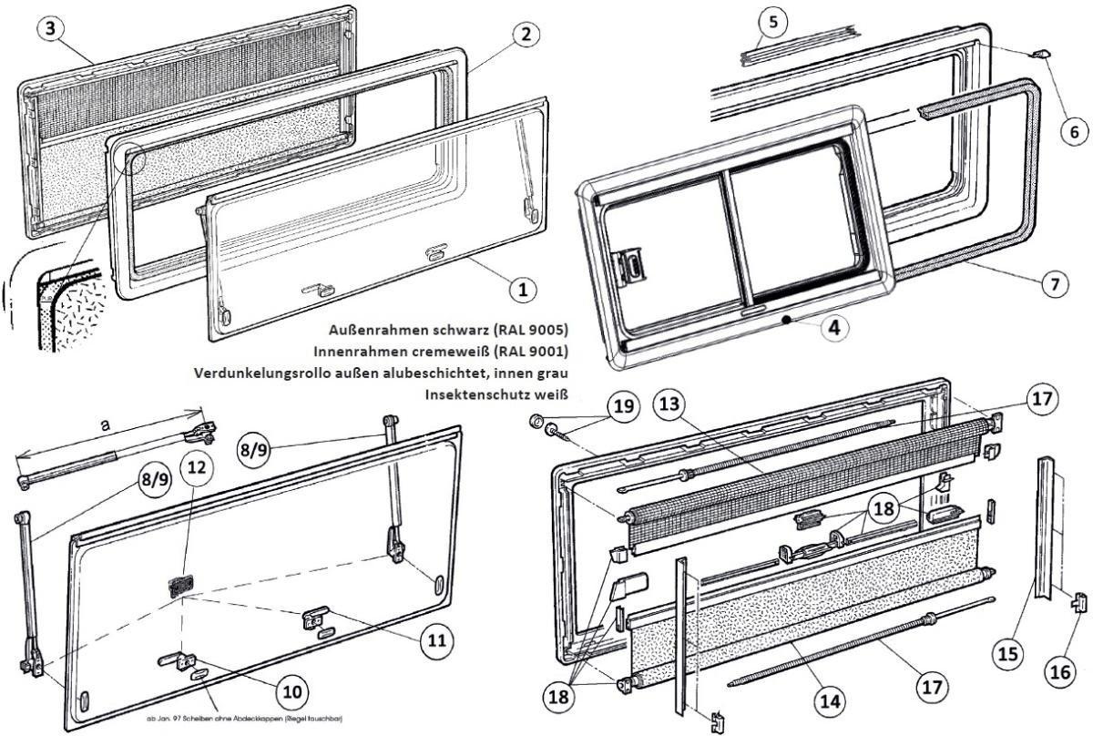 Dometic Ersatzscheibe für SEITZ S4 (1450 x 550mm)