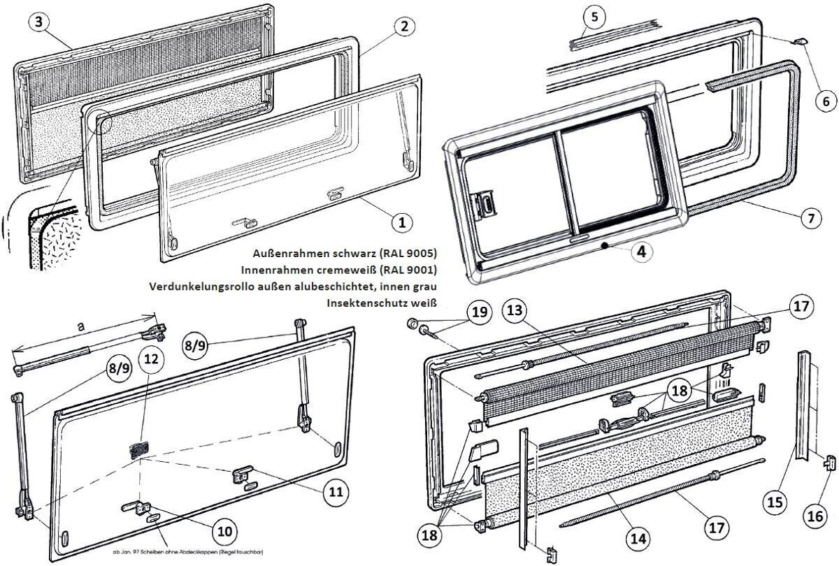 Dometic Ersatzscheibe für SEITZ S4 (600 x 500mm)