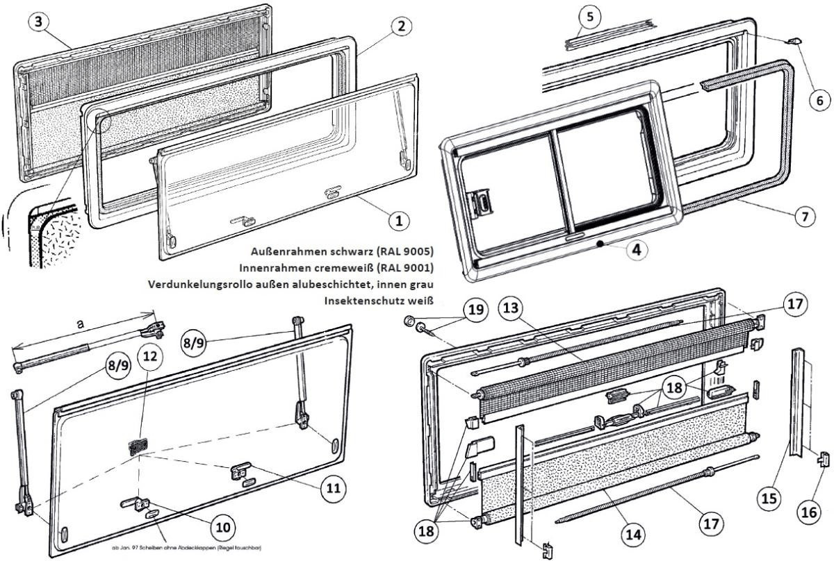 Dometic Ersatzscheibe für SEITZ S4 (700 x 300mm)