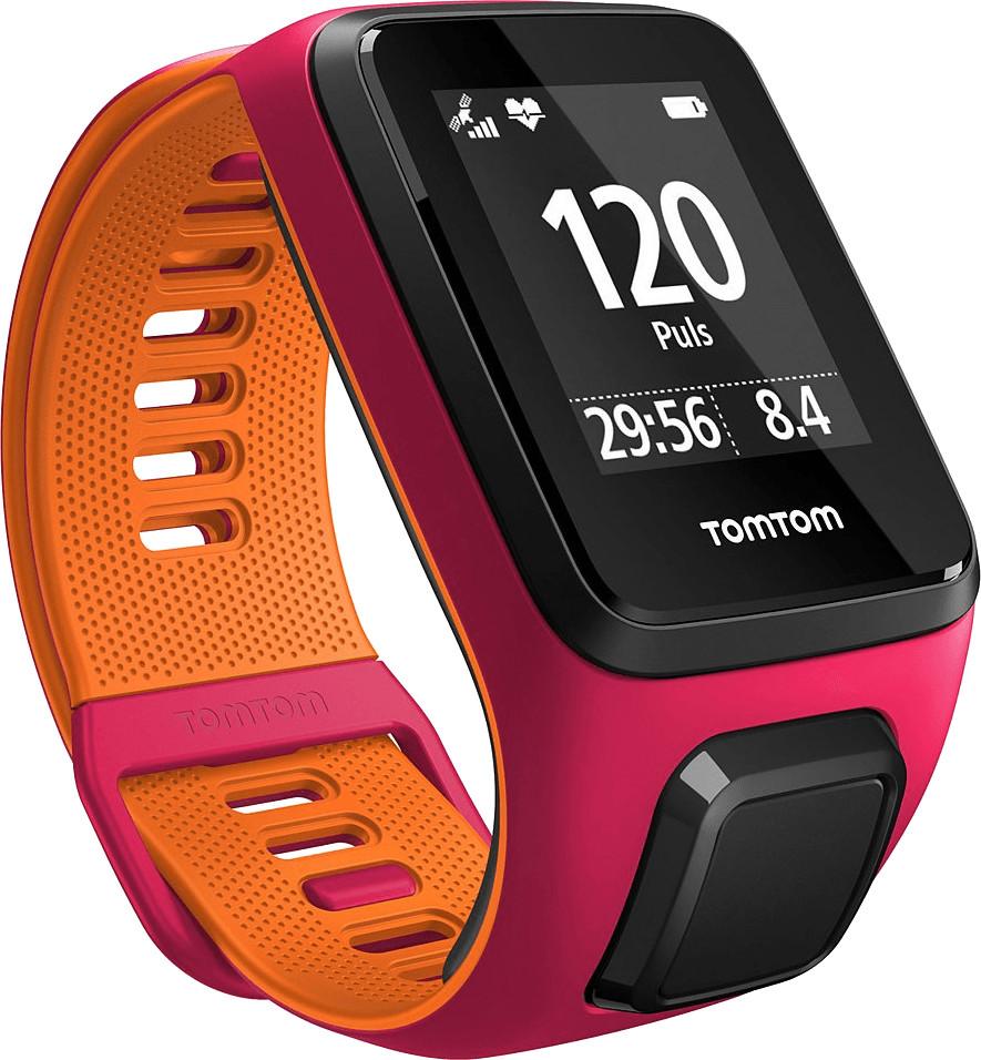 TomTom Runner 3 Cardio - Dunkles Pink/Orange - Schmal
