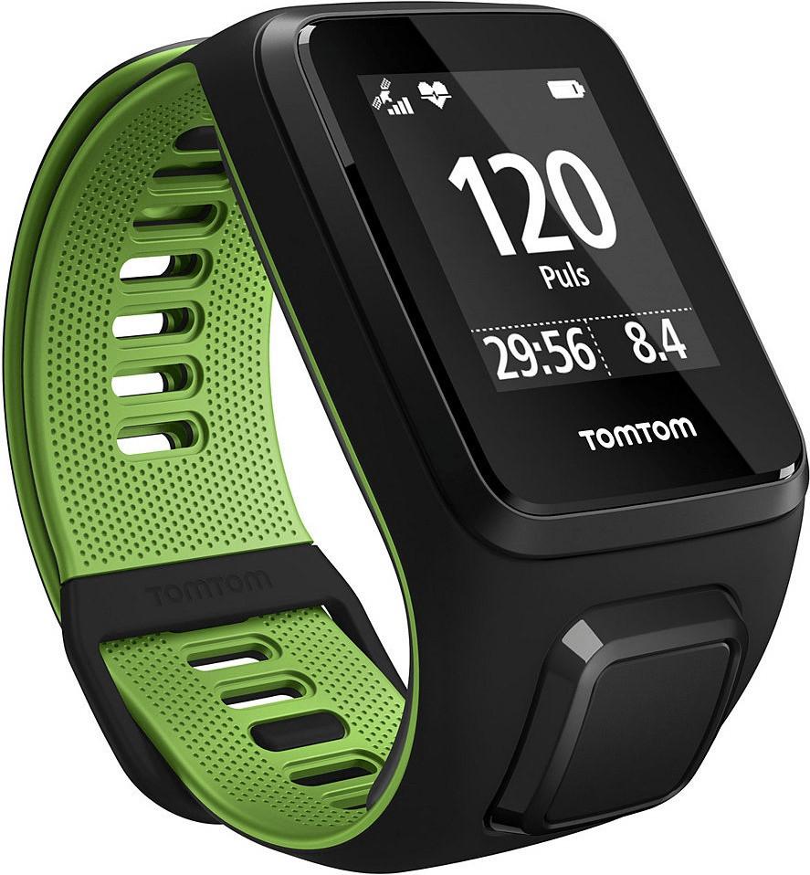 TomTom Runner 3 Cardio + Music - Schwarz/Grün - Schmal inkl. Bluetooth Kopfhörer