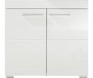 Woody Möbel Waschbeckenunterschrank Weiß Hochglanz 93 00796 Ab 64