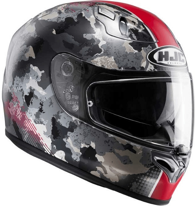 HJC FG-ST VOID Motorrad Integralhelm Touring - matt grau rot