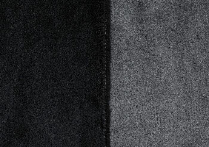 Ibena Sorrento Doubleface 150x200cm schwarz/grau
