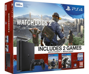 Sony PlayStation 4 (PS4) Slim 500GB + Watch Dogs 2 + Watch Dogs