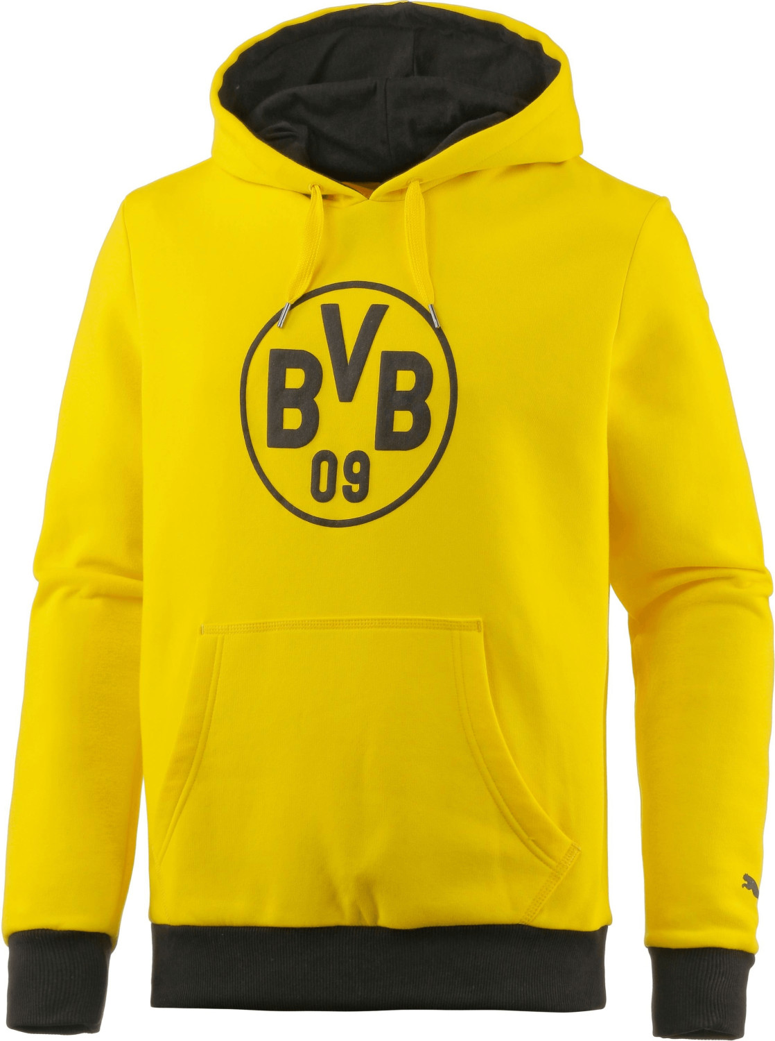 Puma BVB Pullover Wappen Hoodie cyber yellow/black
