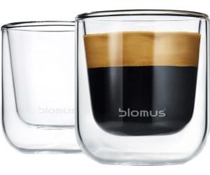 2-tlg. Thermo-Kaffeegläser Kaffeebecher Blomus Nero Kaffeegläser-Set Glas