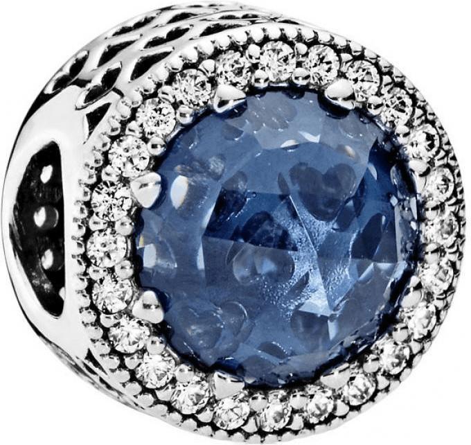 Pandora Mitternachtsblauer Strahlenkranz der Herzen (791725NMB)