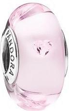 Pandora Charm de murano Brillantes corazones (791632PCZ)