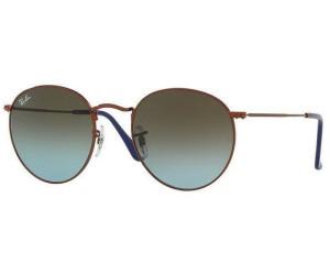 829c1fd488 Buy Ray-Ban Round Flash RB3447 9003 96sml (shiny dark bronze blue ...