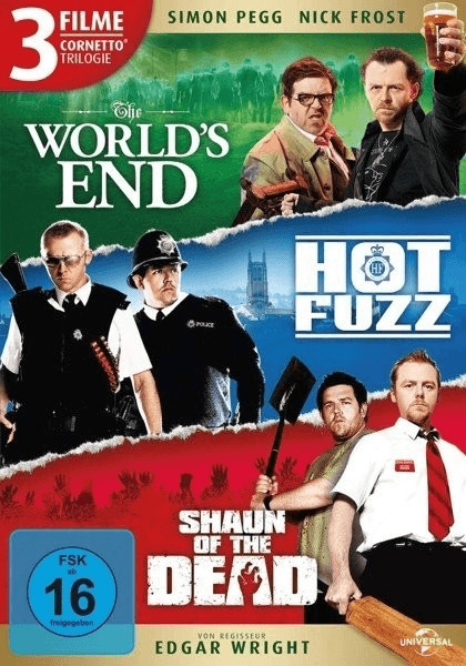 Cornetto Trilogie: Worlds End / Hot Fuzz / Shaun of the Dead [DVD]