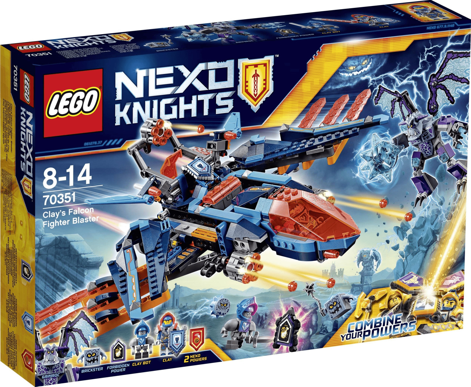 LEGO Nexo Knights - Clays Falcon Fighter Blaster (70351)