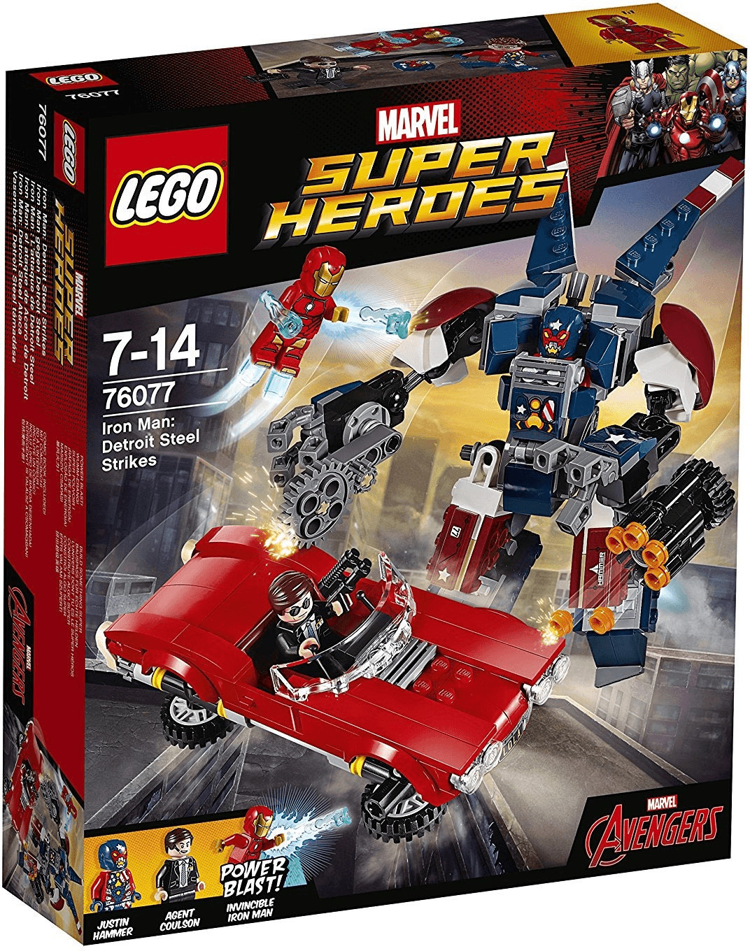 LEGO Marvel Super Heroes - Iron Man : L'attaque de Detroit Steel (76077)