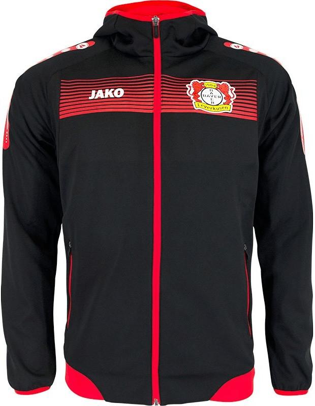 JAKO Bayer 04 Leverkusen Einlaufjacke mit Kapuz...