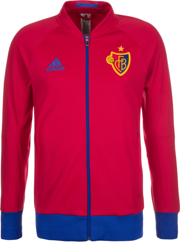 Adidas FC Basel Anthem Jacke rot