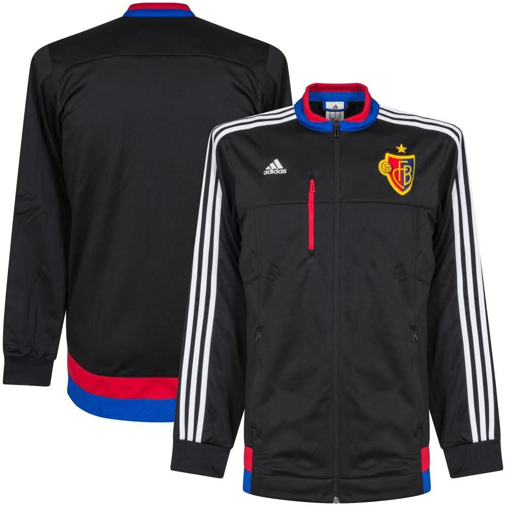 Adidas FC Basel Anthem Jacke schwarz