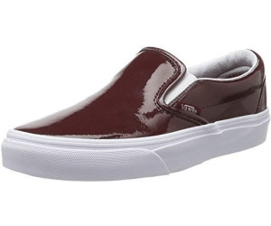 d545f6a0e0 Buy Vans Classic Slip-On tumble patent burgundy from £39.04 – Best ...