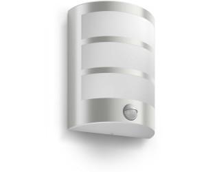 Philips LED Außenwandleuchte mit Bewegungsmelder Python Edelstahl EEK: A++