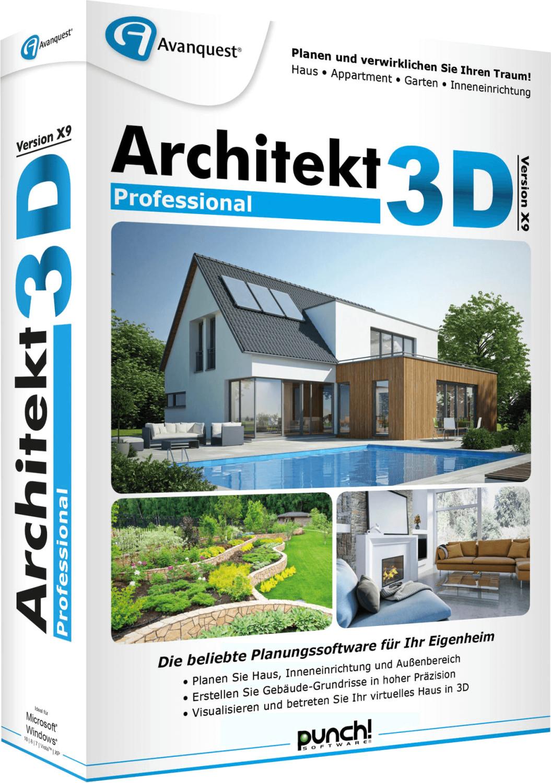 Image of Avanquest Architekt 3D X9 Professional (DE) (Box)